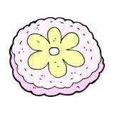 Comic cartoon baked biscuit. Retro comic book style cartoon baked biscuit royalty free illustration