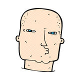 Comic cartoon bald tough guy Royalty Free Stock Photos