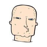 Comic cartoon bald tough guy Royalty Free Stock Photos
