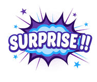 Comic Cartoon Bang Exsplosion With Surprise Text. Vector stock of comic explosion, bang and boom, surprise word royalty free illustration