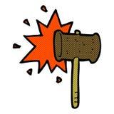 comic cartoon banging gavel Royalty Free Stock Image