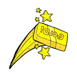 Comic cartoon bar of gold Stock Image