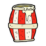 comic cartoon barrel Royalty Free Stock Photos