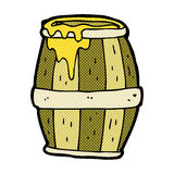 comic cartoon barrel Royalty Free Stock Photography