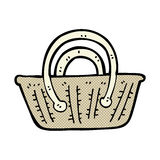 Comic cartoon basket Royalty Free Stock Images