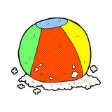 Comic cartoon beach ball. Retro comic book style cartoon beach ball Royalty Free Stock Images