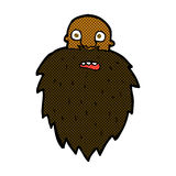 comic cartoon bearded man Royalty Free Stock Image