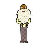 Comic cartoon bearded old man Royalty Free Stock Image