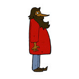 Comic cartoon bearded old man Stock Photography