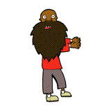 Comic cartoon bearded old man Royalty Free Stock Images