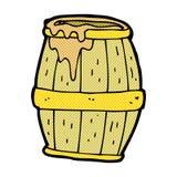 comic cartoon beer barrel Stock Image