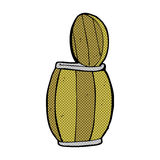 comic cartoon beer barrel Stock Images
