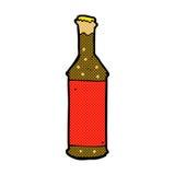 Comic cartoon beer bottle Royalty Free Stock Photos