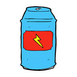 comic cartoon beer can Royalty Free Stock Photo