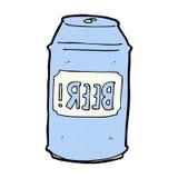 comic cartoon beer can Stock Photo