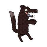 comic cartoon big bad wolf Stock Images