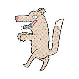 comic cartoon big bad wolf Stock Photo