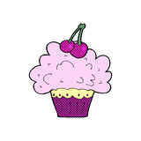 Comic cartoon big cupcake Royalty Free Stock Photo