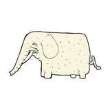 Comic cartoon big elephant Royalty Free Stock Image