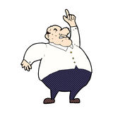 comic cartoon big fat boss Royalty Free Stock Images