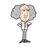 comic cartoon big hair lecturer man Royalty Free Stock Photography