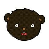 Comic cartoon black bear face Stock Photos