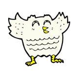 Comic cartoon black bird Stock Image
