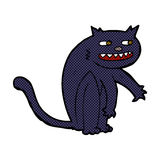 Comic cartoon black cat Stock Photo