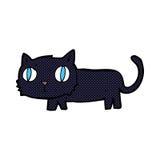 Comic cartoon black cat Stock Photography