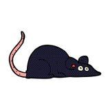 comic cartoon black rat Stock Images