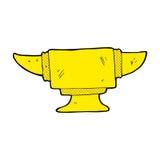 comic cartoon blacksmith anvil Royalty Free Stock Photography