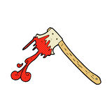 Comic cartoon bloody axe Stock Photos