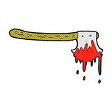 comic cartoon bloody axe Stock Photography