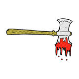 comic cartoon bloody axe Royalty Free Stock Images