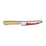 comic cartoon bloody kitchen knife Royalty Free Stock Image