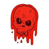 Comic cartoon bloody skull Royalty Free Stock Photos
