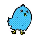 Comic cartoon bluebird Royalty Free Stock Image