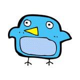 Comic cartoon bluebird Stock Photography
