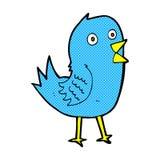 Comic cartoon bluebird Stock Image
