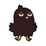Comic cartoon bored bird Royalty Free Stock Photos