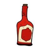 Comic cartoon bottle of rum Stock Photo