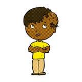 Comic cartoon boy with growth on head Stock Photo