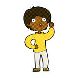 Comic cartoon boy with idea Royalty Free Stock Images