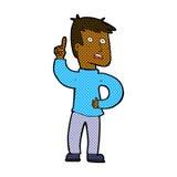 Comic cartoon boy with idea Royalty Free Stock Image