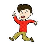Comic cartoon boy panicking Stock Image
