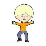 Comic cartoon boy panicking. Retro comic book style cartoon boy panicking Stock Image