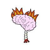 Comic cartoon brain Royalty Free Stock Photo
