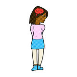 Comic cartoon brainy woman. Retro comic book style cartoon brainy woman Royalty Free Stock Photos