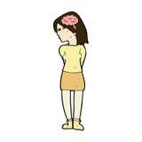 comic cartoon brainy woman Stock Image