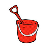 Comic cartoon bucket and spade Royalty Free Stock Image